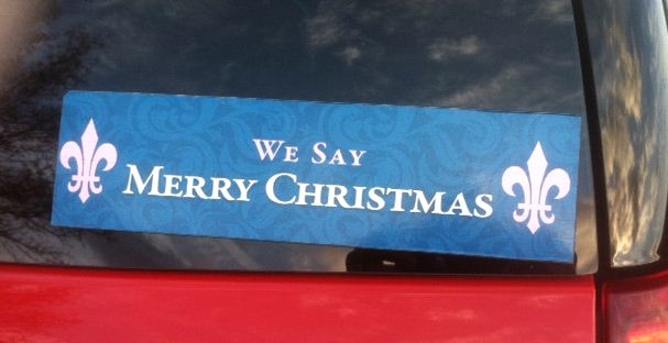 Bumper Sticker - Nashville TN - We Say Merry Christmas