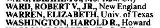 Elizabeth Warren 1986-87 AALS Directory Section List II Minority Law Teachers entry
