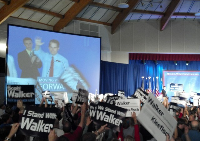 Walker addresses crowd