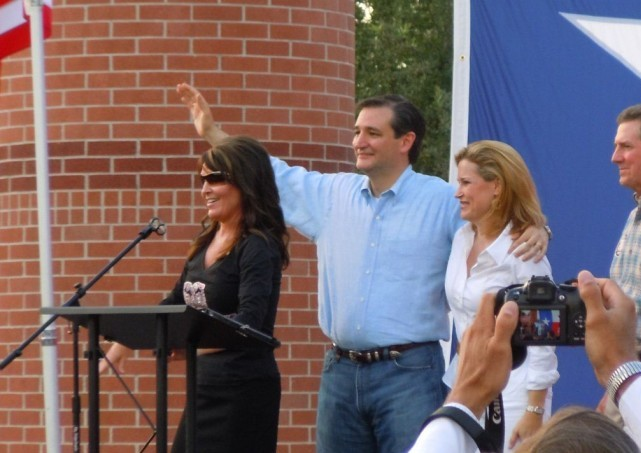 Sarah Palin and Ted Cruz Rally