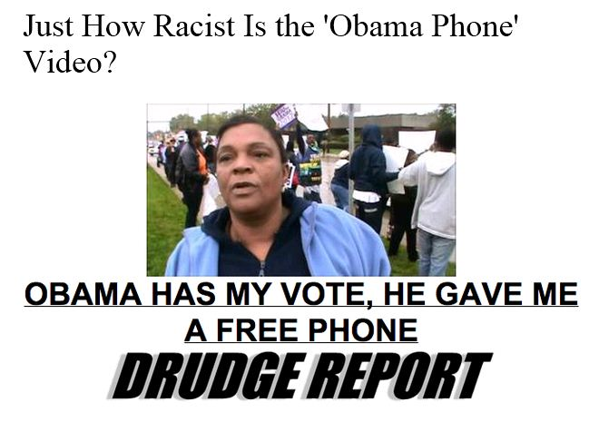 Atlantic Wire - How Racist Is Obama Phone