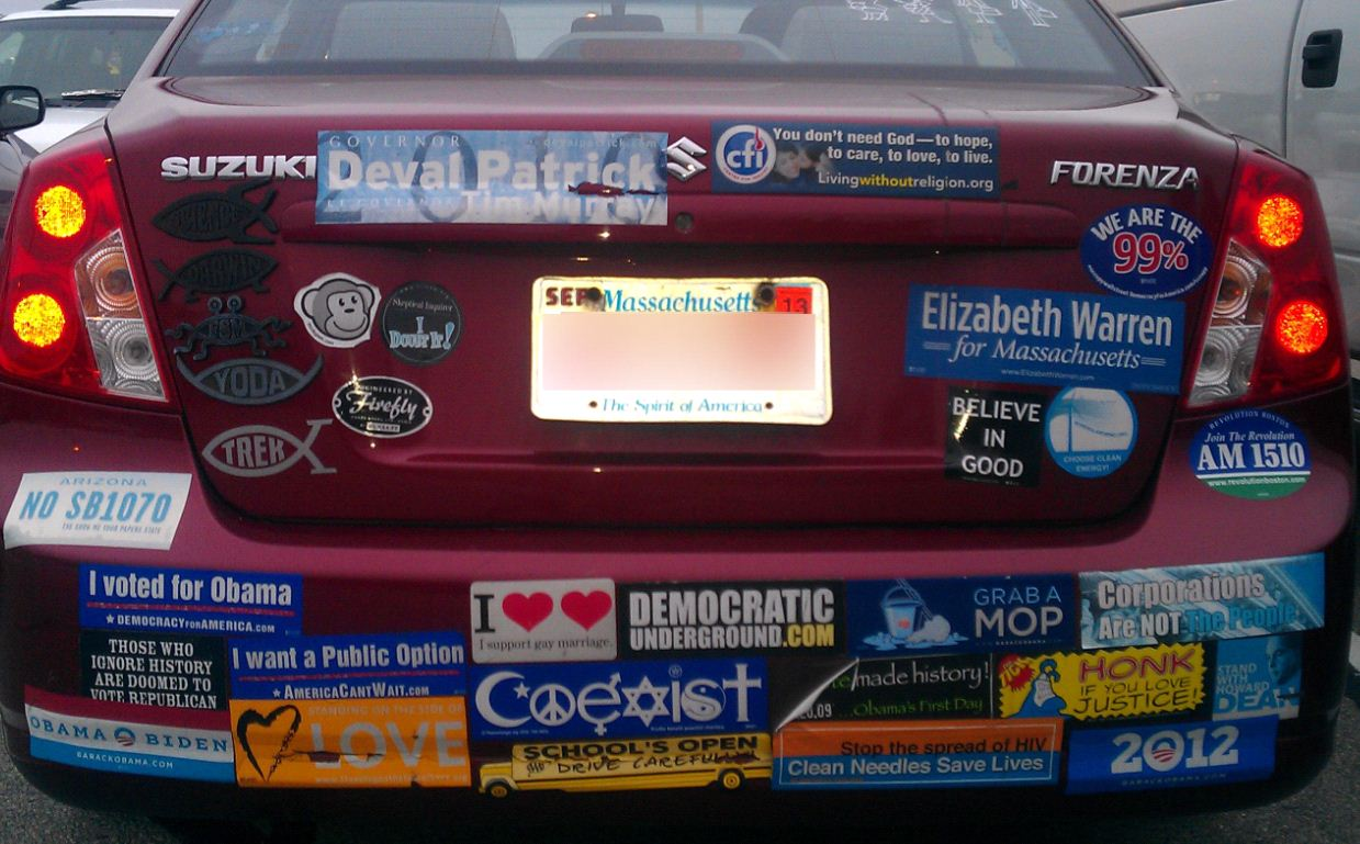 Awesome bumper sticker sightings continued democratic underground