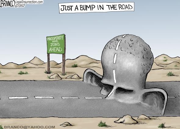 Branco Cartoon Bump In The Road