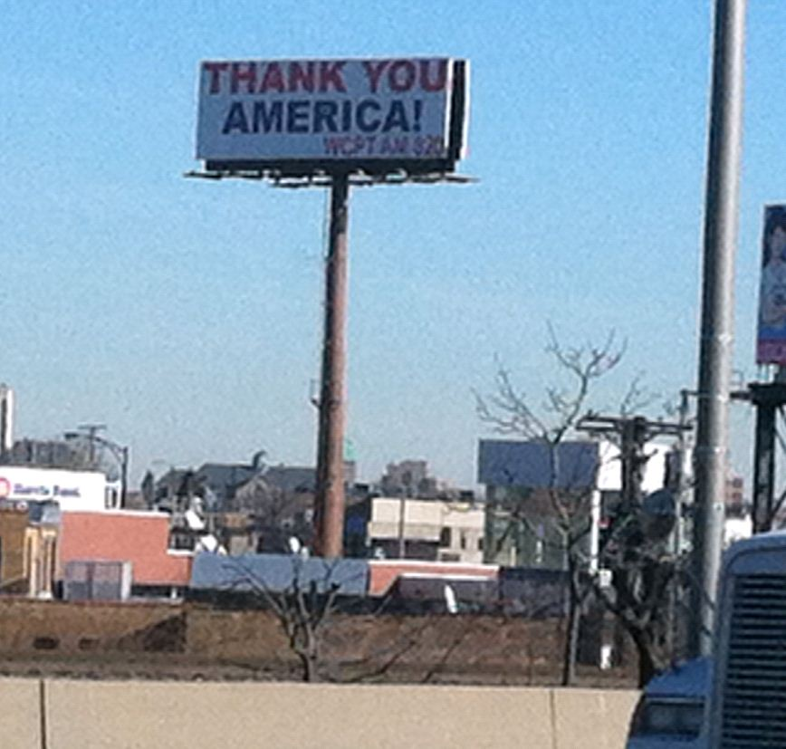 Billboard - Chicago - Thanks America