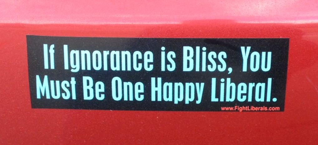Bumper sticker colorado happy liberal