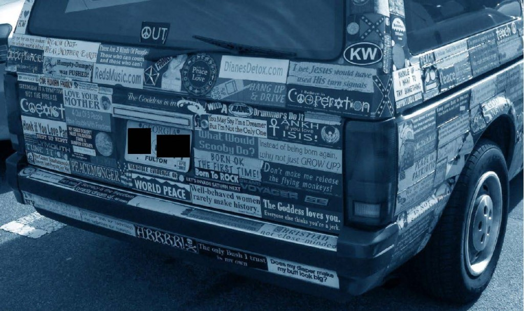 Bumper Stickers - GA - Covered Car4