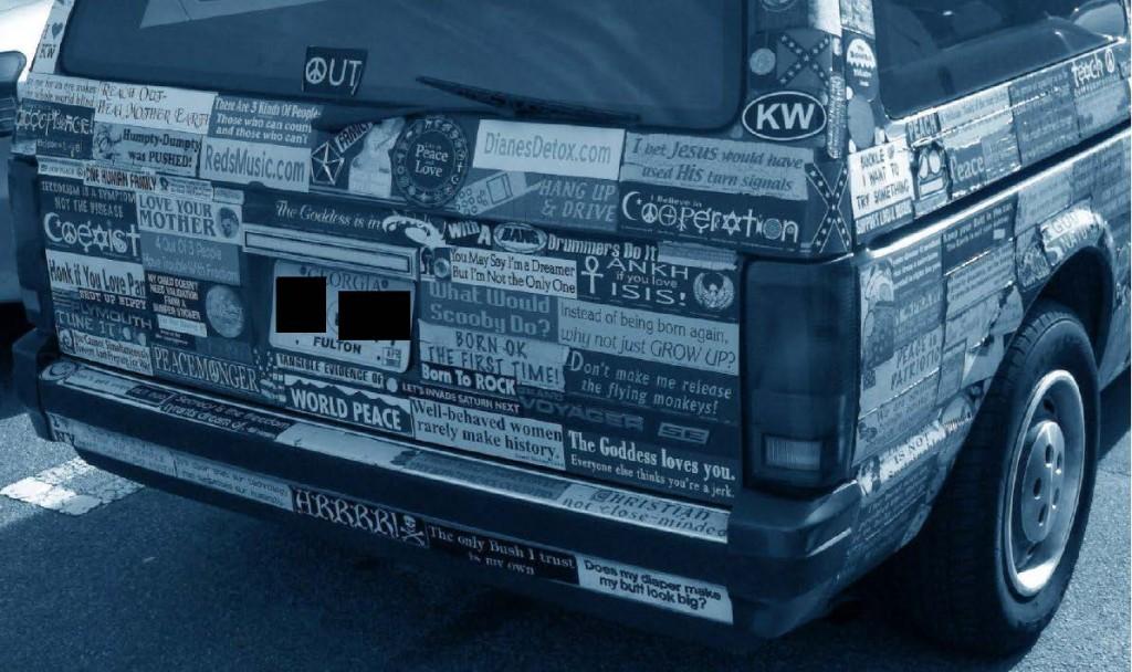 Bumper Stickers - GA - Covered Car4