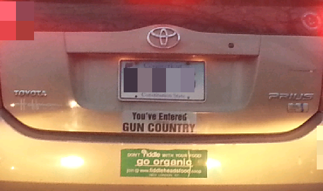 Bumper Sticker - CT - Gun Country