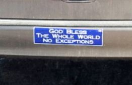 Bumper Sticker - Elgin IL - whole world