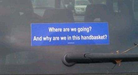 Bumper Sticker - Virginia - Handbasket