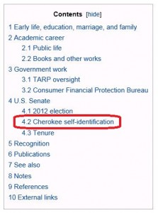 Elizabeth Warren - Wikipedia Contents 1-10-2013 - circled