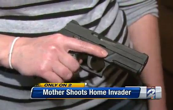 Mother defends self with gun