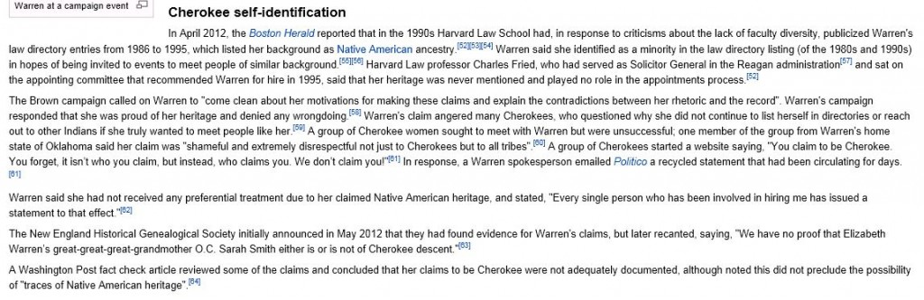 Warren Wikipedia 1-8-2013 updated