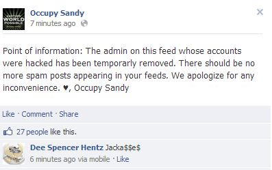 occupy sandy faceboo