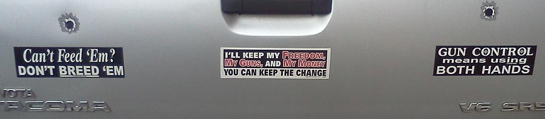 Bumper sticker charlottesville va gun control