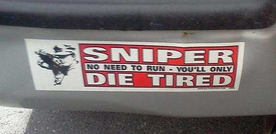 Bumper Sticker - Charlottesville VA - Sniper