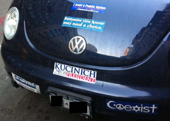 Bumper Sticker - Manhattan - Bug Front