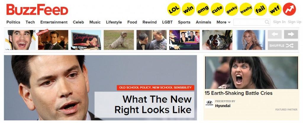 BuzzFeed Homepage Rubio