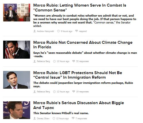 BuzzFeed Politics - Rubio interview headlines