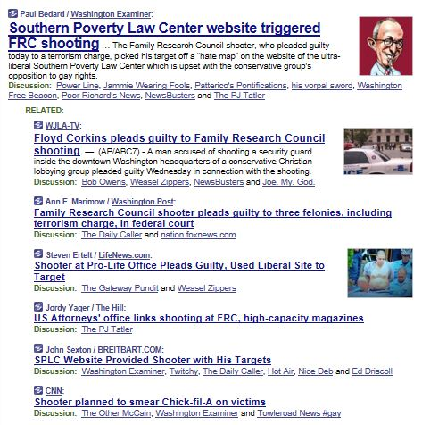 Memeorandum SPLC Wash Shooter 2-7-2013