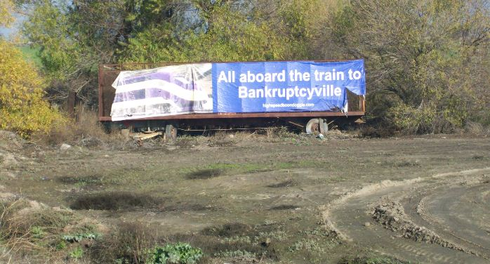 Sign - Central Valley CA - Bankrupt