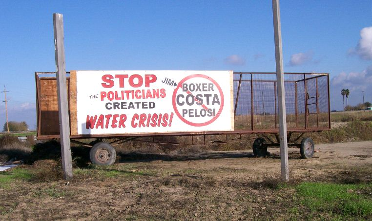 Sign - Central Valley CA - Water Crisis