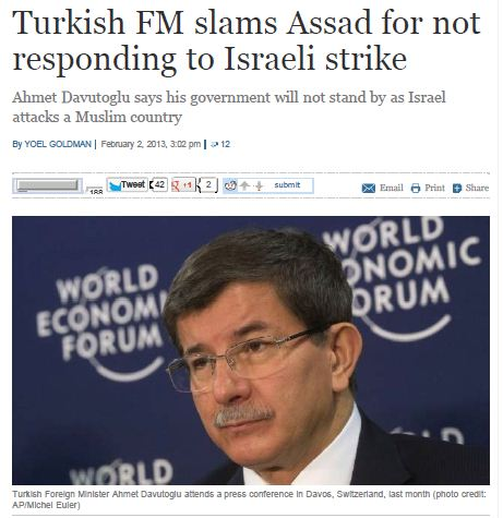 Turkey - not stand by as Israel attacks Muslim country