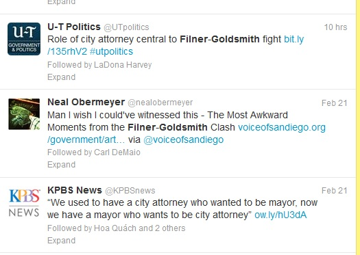 Twitter Filner Battle