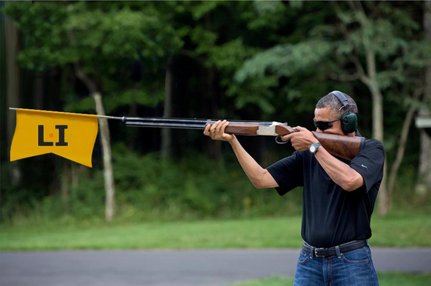 taking aim w LI flag