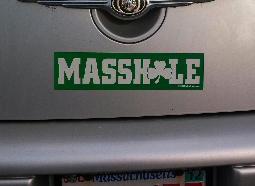 Bumper Sticker - Seekonk MA - Masshole