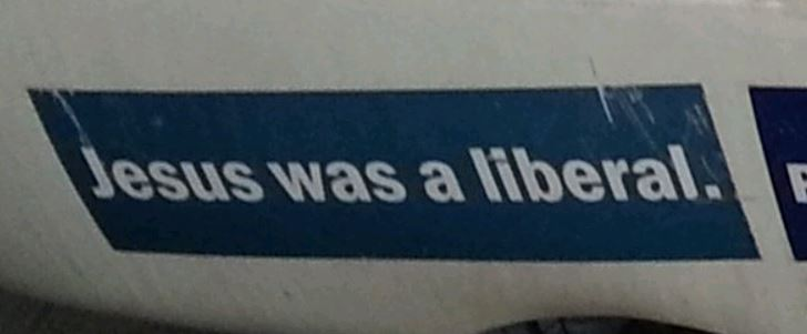 Bumper Stickers - Maryland - Jesus Liberal1