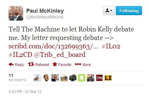 McKinley debate tweet 1