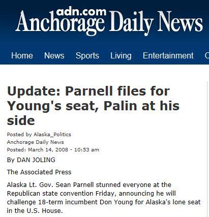 Palin Don Young challege 2008 Alaska DN