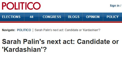 Politico Palin next act