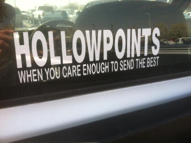 Bumper sticker nashville tn hollowpoints