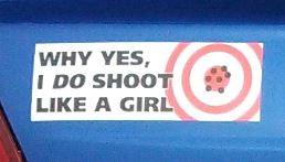 Bumper Sticker - shoot like a girl2