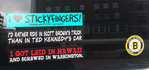 Bumper Stickers - Boston - near bombing1