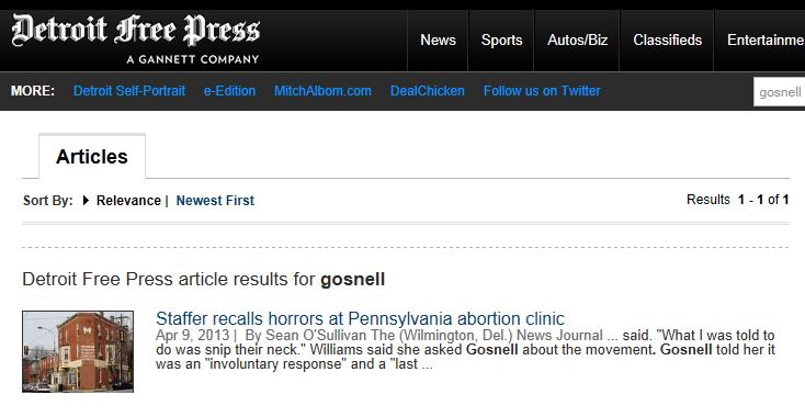 Detroit Free Press Article Search Gosnell 4-12-2013