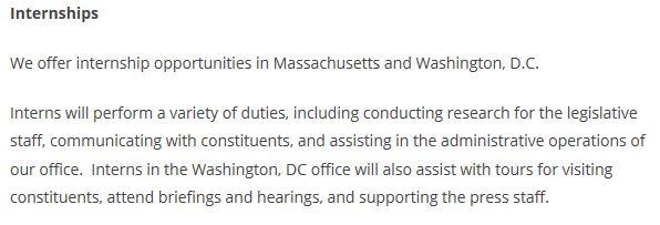 Elizabeth Warren Senate Web Page Internships 4-11-2013