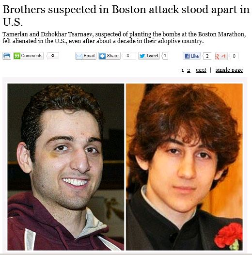 LA Times Brothers in Boston Attack Stood Apart