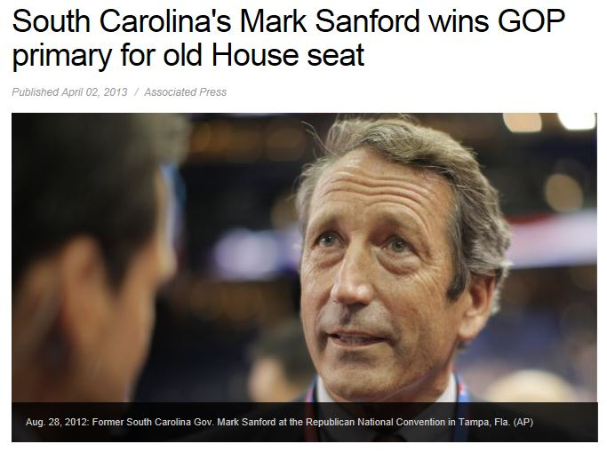Mark Sanford Wins Primary Runoff