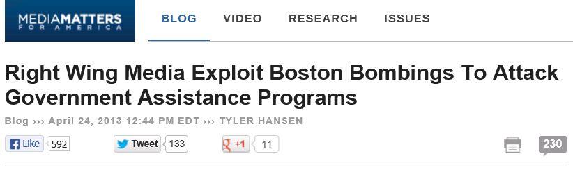 Media Matters Boston Bombers Welfare