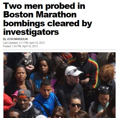 NY Post Two Men Boston Marathon Cleared