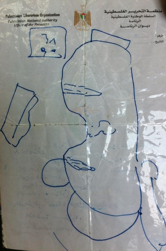 Abbas handdrawn map