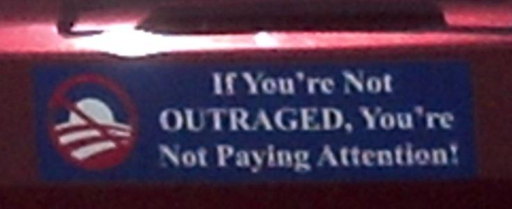 Bumper Sticker - Fernandina Beach FL - Outraged
