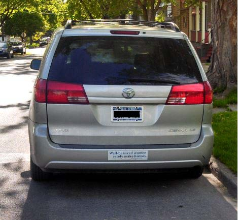 Bumper Sticker - Ithaca - Well Behaved Women Van