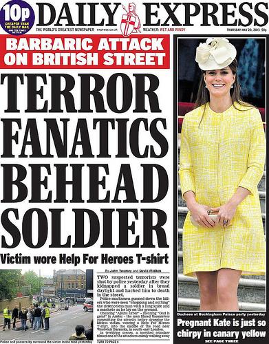 Daily Express Cover - Machete Terror Attack