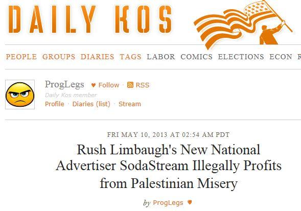 Daily Kos - SodaStream Palestinian Misery