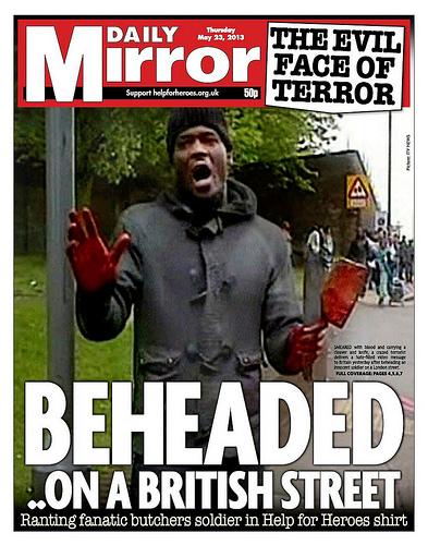 Daily Mirror Cover - Machete Terror Attack