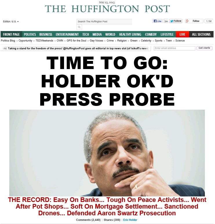 HuffPo - Holder Time to Go